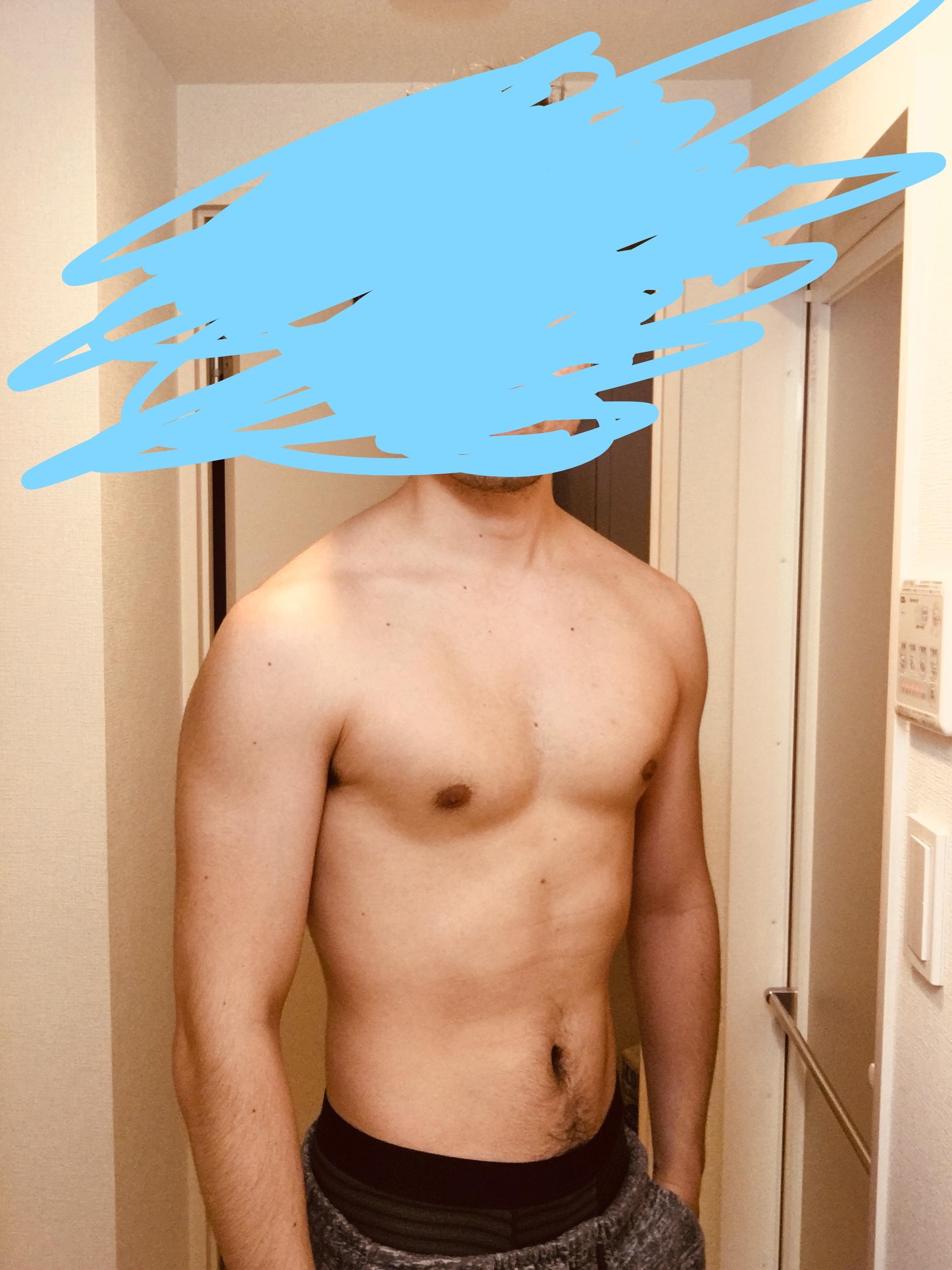 今日の体型の写真